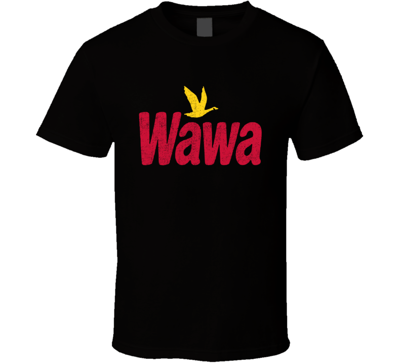 Wawa Gas Station Convenience Store Cool Worn Look Distressed Fan T Shirt