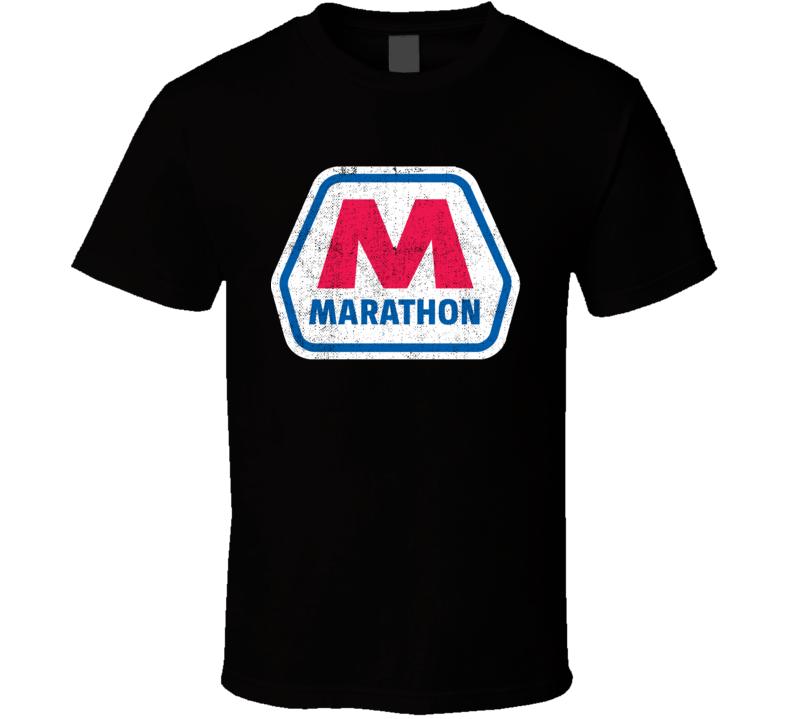 Marathon Gas Station Convenience Store Cool Worn Look Distressed Fan T Shirt
