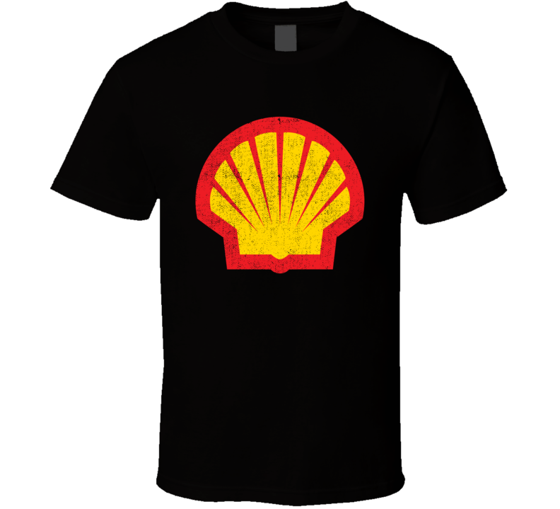 Shell Gas Station Convenience Store Cool Worn Look Distressed Fan T Shirt