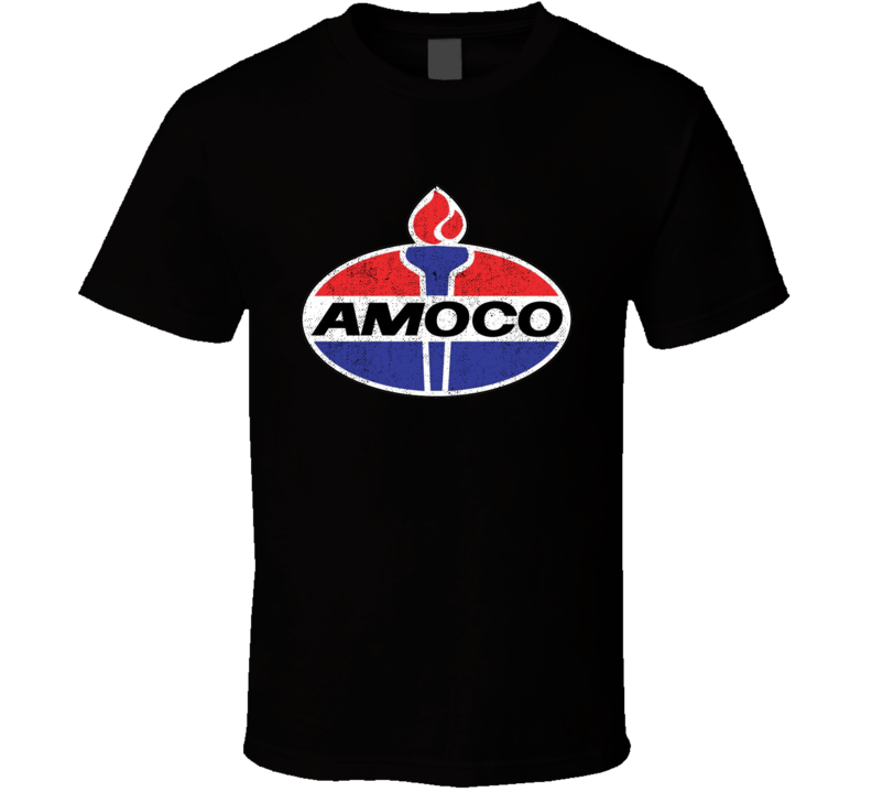 Amoco Gas Station Convenience Store Cool Worn Look Distressed Fan T Shirt