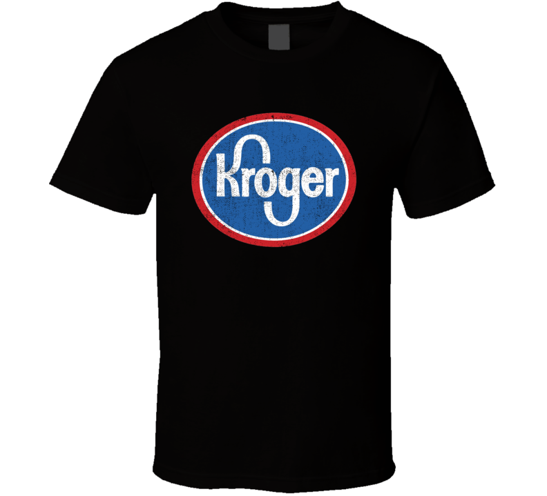 Kroger Gas Station Convenience Store Cool Worn Look Distressed Fan T Shirt