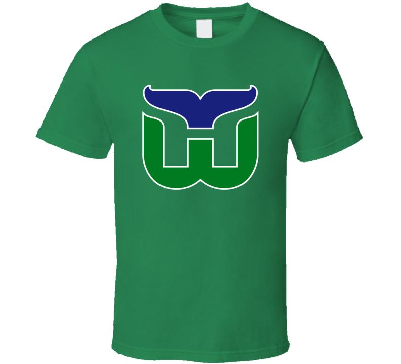 Hartford Whalers Retro Hockey Team Logo Cool Fan T Shirt
