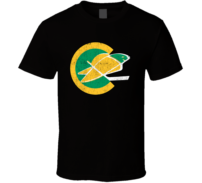 California Golden Seals Retro Hockey Team Logo Worn Look Distressed Cool Fan T Shirt