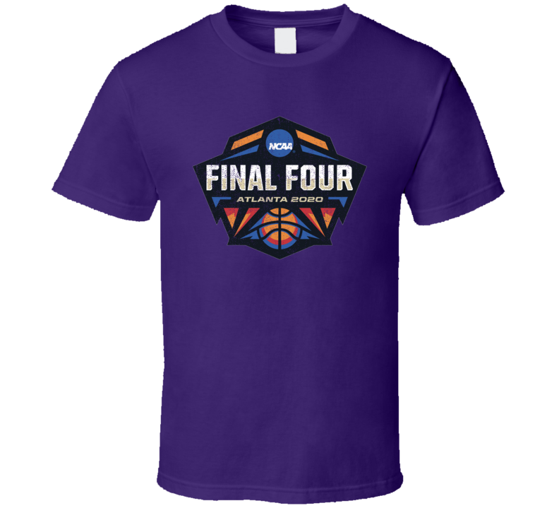 March Madness Final Four Atlanta 2020 Basketball Worn Look Distressed Cool Fan T Shirt