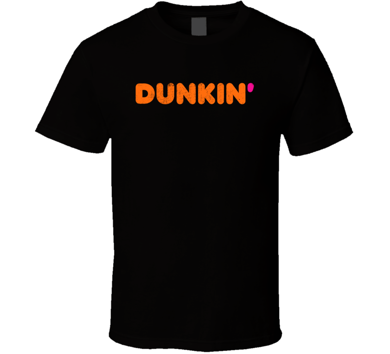 Dunkin Donuts Coffee Restaurant Cool Worn Look Distressed Fan T Shirt
