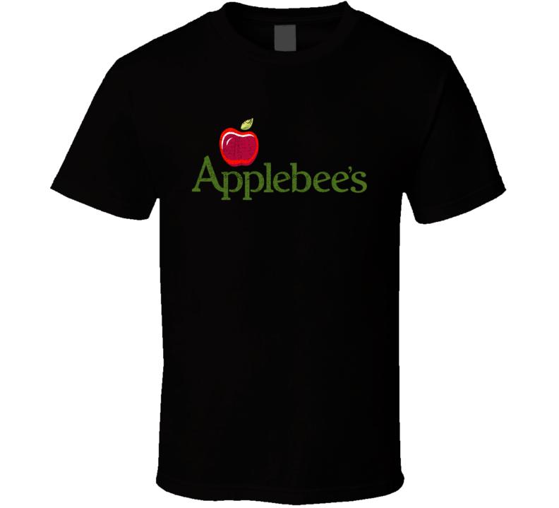 Applebee's Restaurant Cool Worn Look Distressed Fan T Shirt
