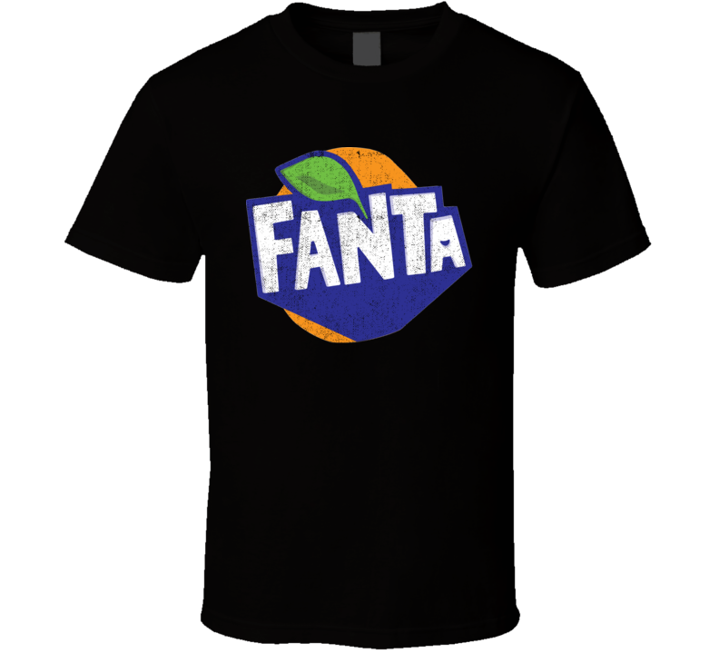 Fanta Orange Soft Drink Pop Soda Junk Worn Look Distressed Drink Fan T Shirt