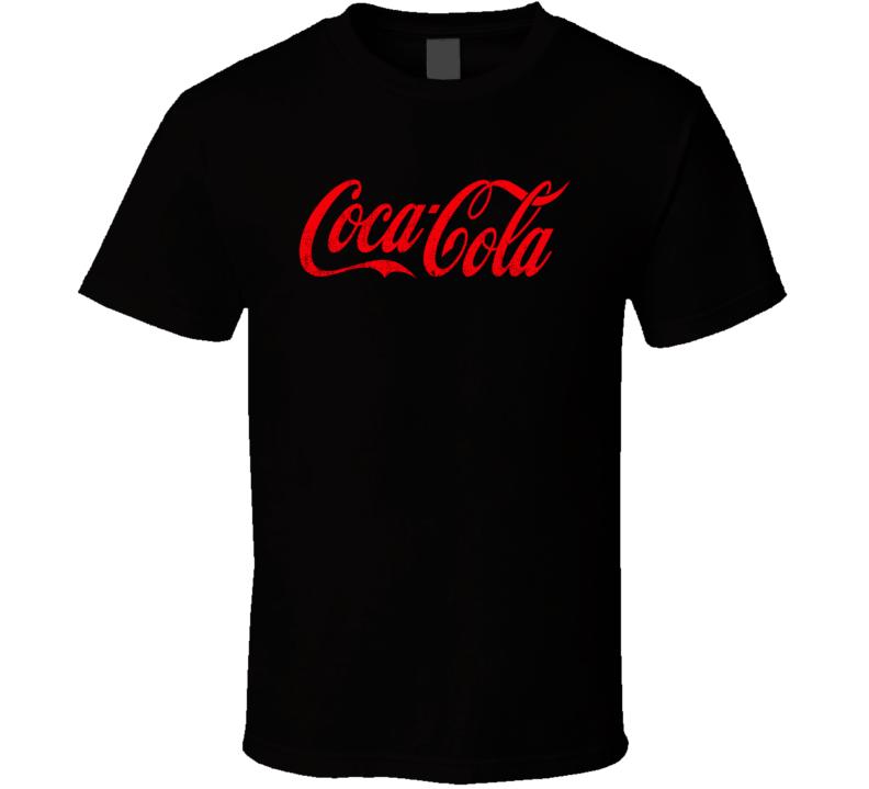 Coca Cola Soft Drink Pop Soda Junk Worn Look Distressed Drink Fan T Shirt