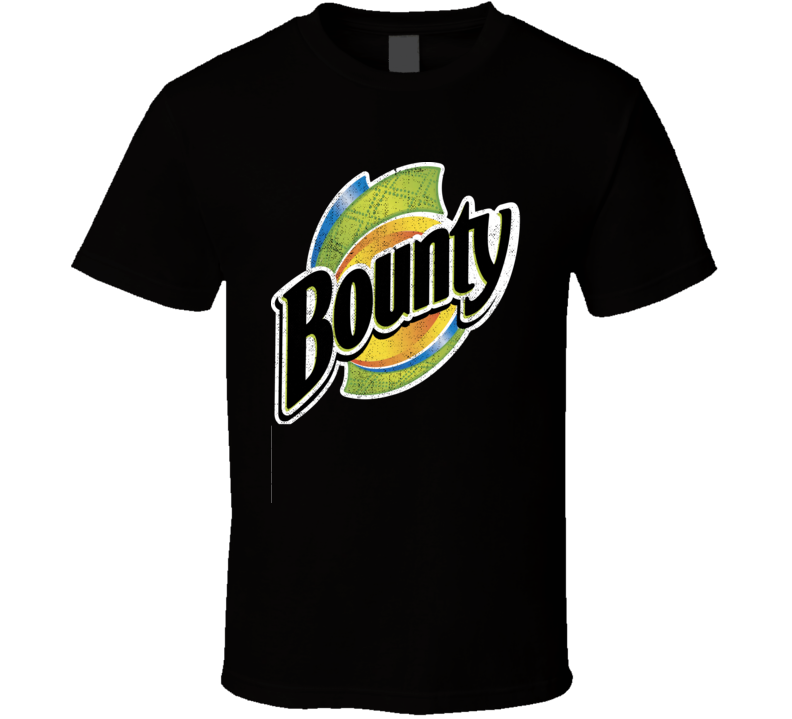 Bounty Paper Towels Quicker Picker Upper Cleaning Worn Look Distressed Fan T Shirt