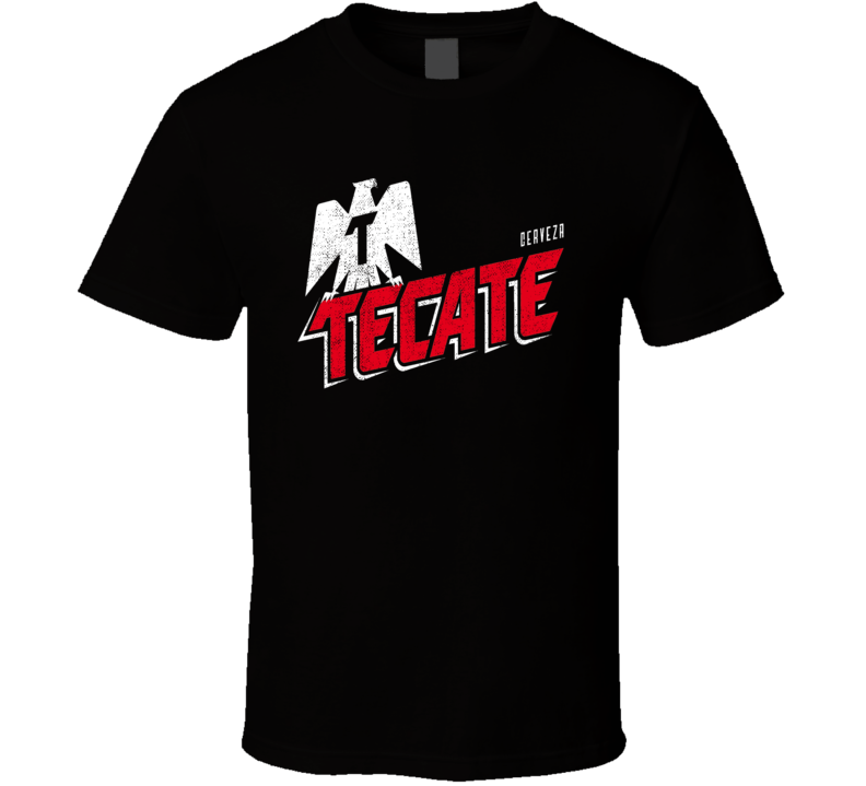 Tecate Cerveza Beer Drink Alcohol Worn Look Distressed Cool Fan T Shirt