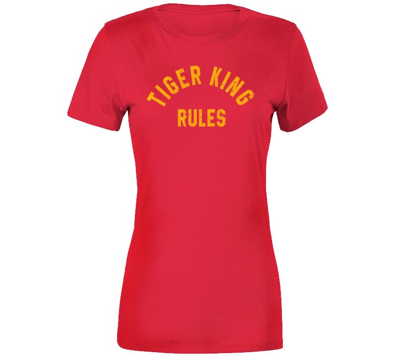 Joe Exotic Tiger King Rules Stephen King Monster Squad Parody Fan Ladies T Shirt