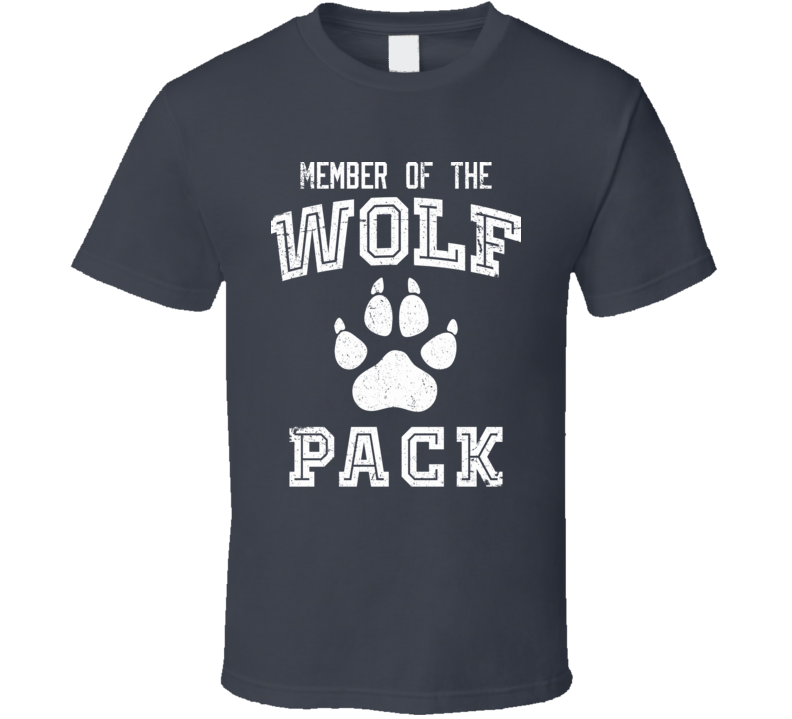 Member Of The Wolf Pack Funny Hang Over T Shirt