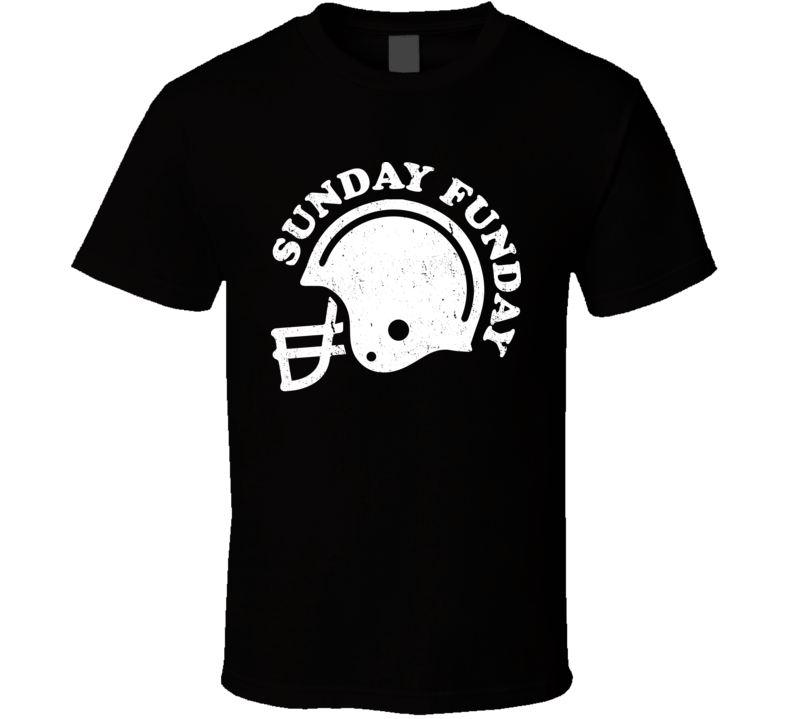 Sunday Funday Football Distressed T Shirt