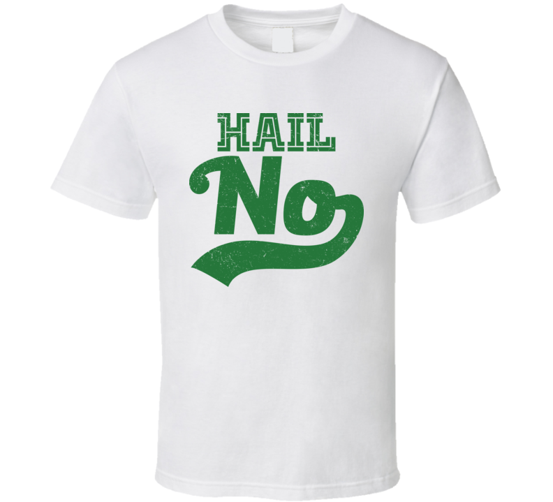 Hail No MSU College Football Distressed T Shirt