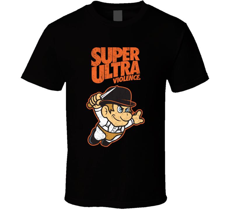 Super Ultra Violence A Clockwork Orange Distressed T Shirt