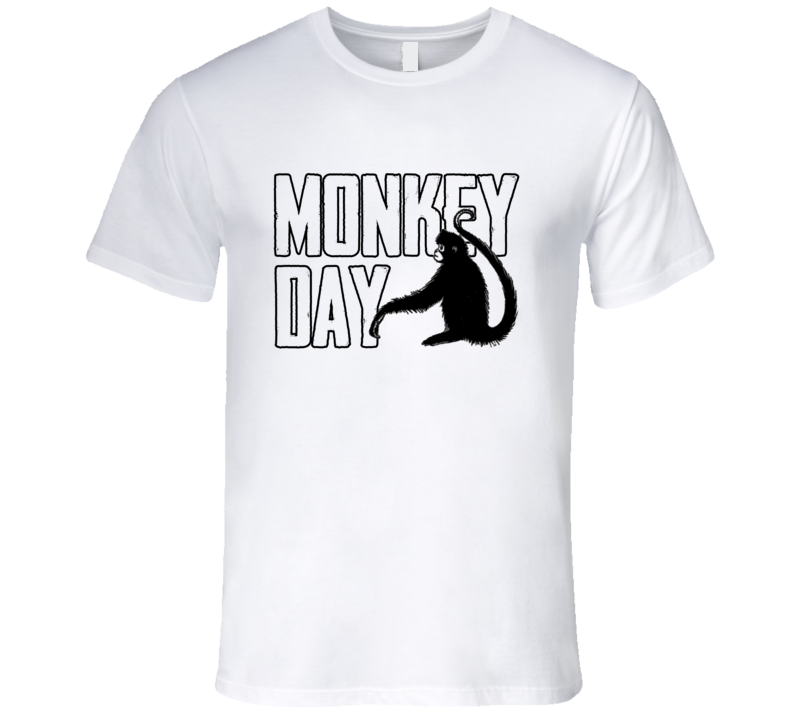 Monkey Day Fun Animal Celebration T Shirt