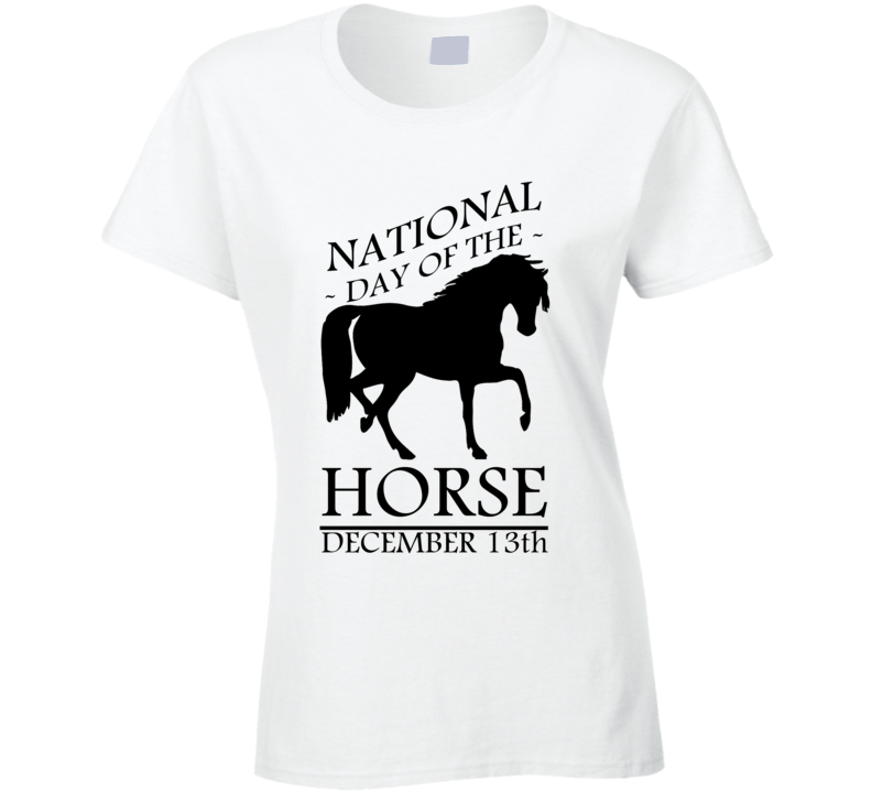 National Day Of The Horse December 13th Fun Equestrian Celebration T Shirt