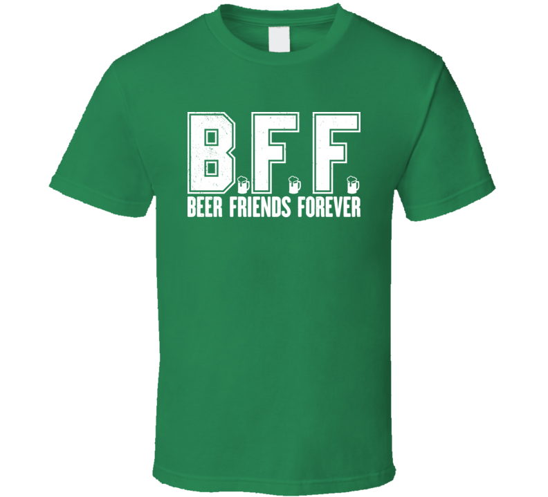 Beer Friends Forever Funny Drinking Buddies Bar Worn Look T Shirt
