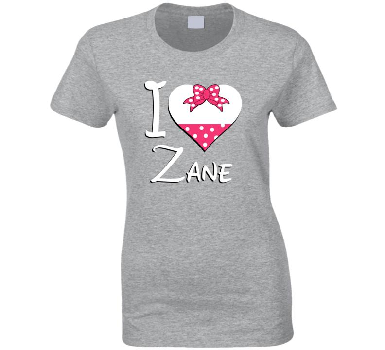 Zane Heart Love Boyfriend Girlfriend First Name Cute Valentines Gift T Shirt