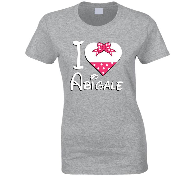 Abigale Heart Love Boyfriend Girlfriend First Name Cute Valentines Gift T Shirt