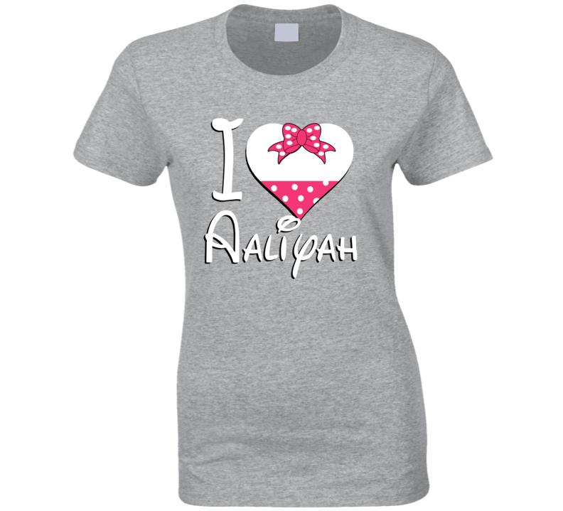 Aaliyah Heart Love Boyfriend Girlfriend First Name Cute Valentines Gift T Shirt