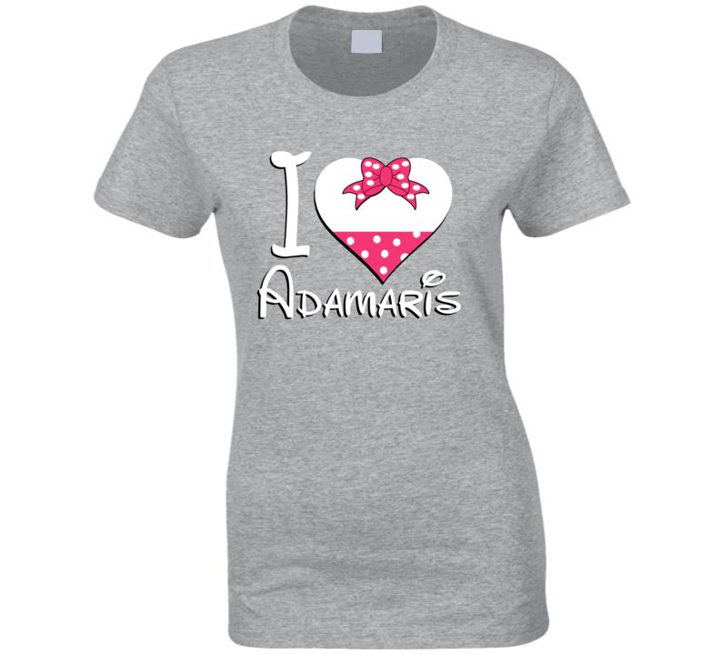 Adamaris Heart Love Boyfriend Girlfriend First Name Cute Valentines Gift T Shirt