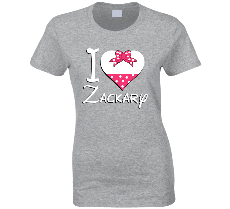 Zackary Heart Love Boyfriend Girlfriend First Name Cute Valentines Gift T Shirt
