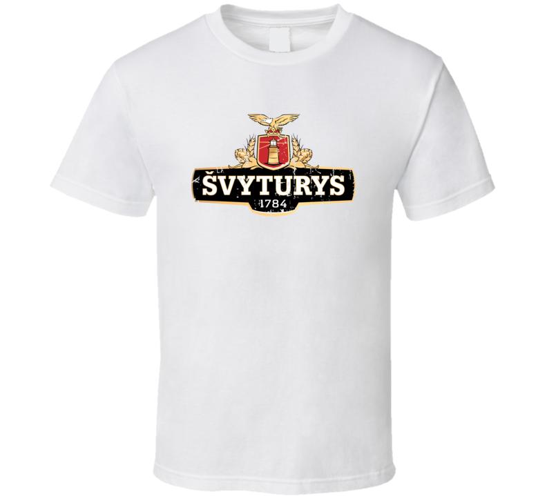Svyturys Logo Popular Beer Lagar Alcohol Beverage Drink Fan Gift T Shirt