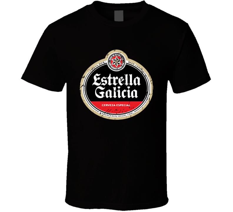 Estrella Galicia Logo Popular Beer Lagar Alcohol Beverage Drink Fan Gift T Shirt