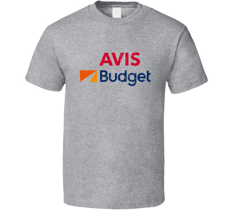 Avis Budget Automobile Car Motorcycle Parts Cool Distressed Style Brand Logo Emblem T Shirt