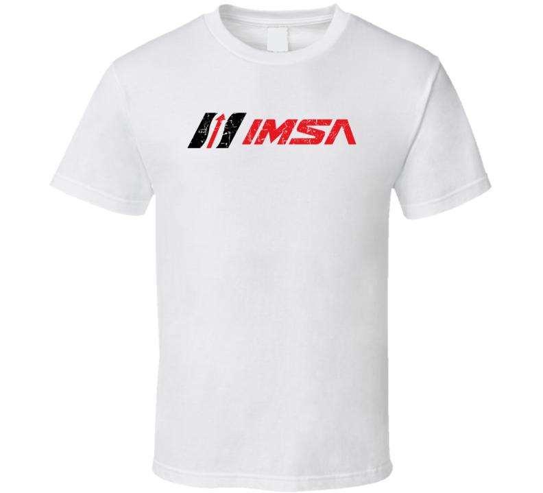 IMSA Automobile Car Truck Motorcycle Auto Parts Cool Distressed Style Brand Logo Emblem T Shirt