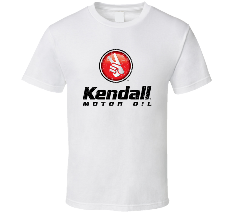 Kendall Motor Oil Automobile Car Truck Motorcycle Auto Parts Cool Distressed Style Brand Logo Emblem T Shirt