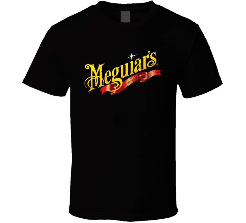 Meguiars Automobile Car Truck Motorcycle Auto Parts Cool Distressed Style Brand Logo Emblem T Shirt