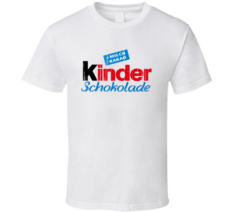 Kinder Schokolade Logo Popular Chocolate Egg Sweets Dessert Brand Food Fan Gift T Shirt