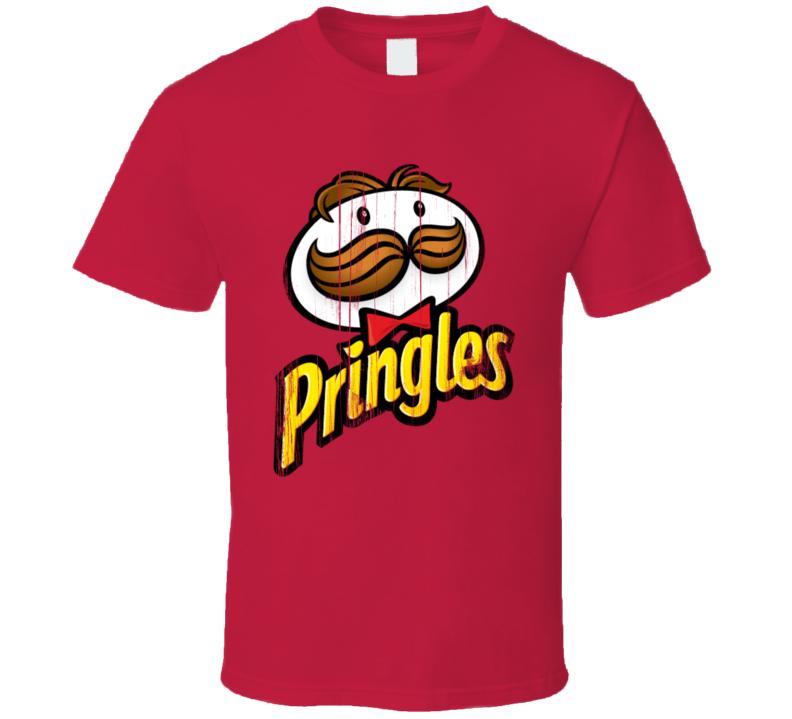 Pringles Logo Popular Chips Brand Snack Food Company Fan Gift T Shirt