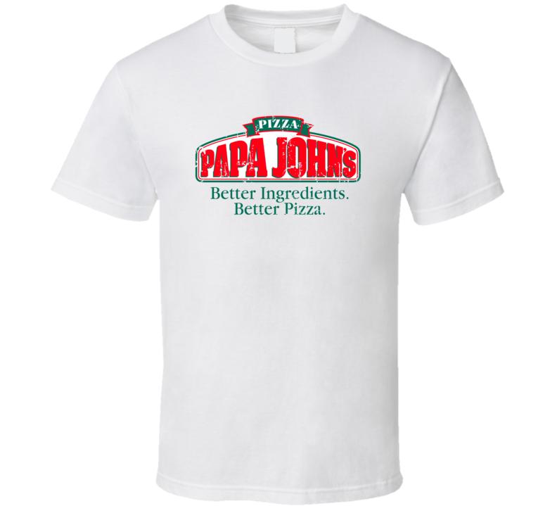 Papa Johns Logo Popular Pizza Store Restaurant Food Fan Gift T Shirt