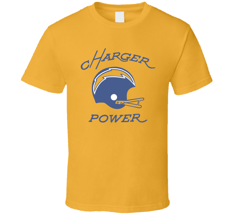 San Diego Chargers Charger Power Football NFL Vintage Look Retro Fan T Shirt