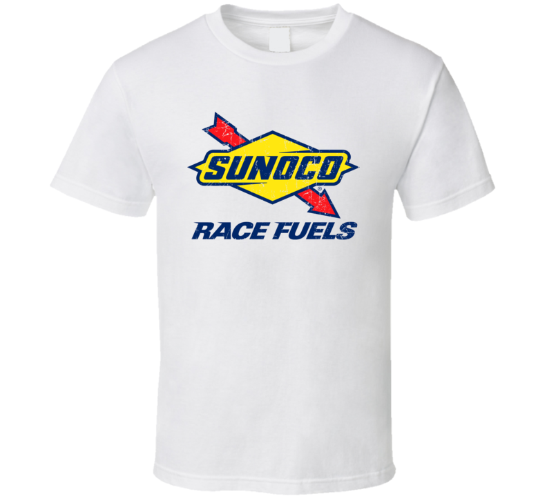 Sunoco Race Fuels Auto Automobile Car Truck Motorcycle Parts Cool Distressed Style Brand Logo Emblem T Shirt