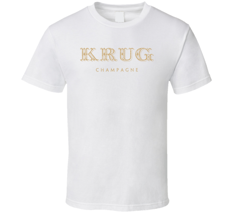 Krug Champagne Cool Brand Logo Drinking Alcohol T Shirt
