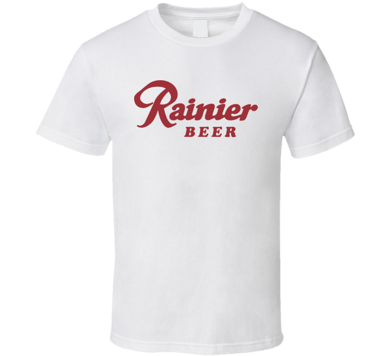 1970's Seattle Rainier Beer Logo Label Retro Classic T Shirt