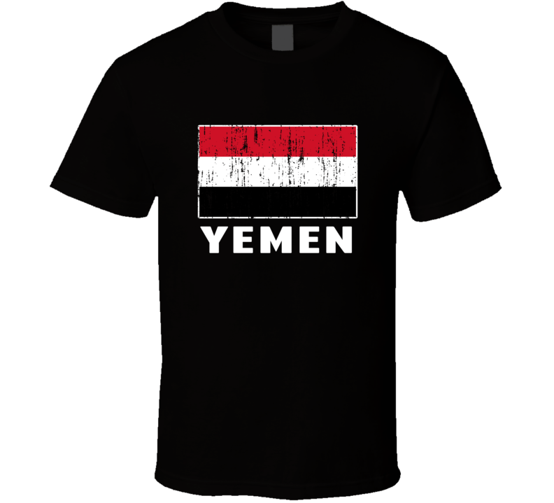 Yemen Country Flag Patriotic Distressed T Shirt