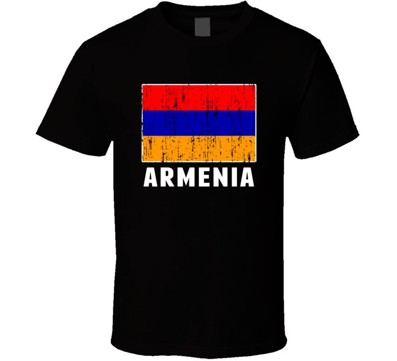Armenia Country Flag Patriotic Distressed T Shirt