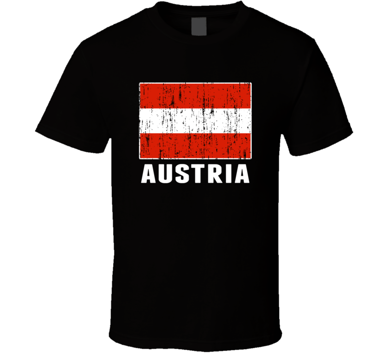 Austria Country Flag Patriotic Distressed T Shirt