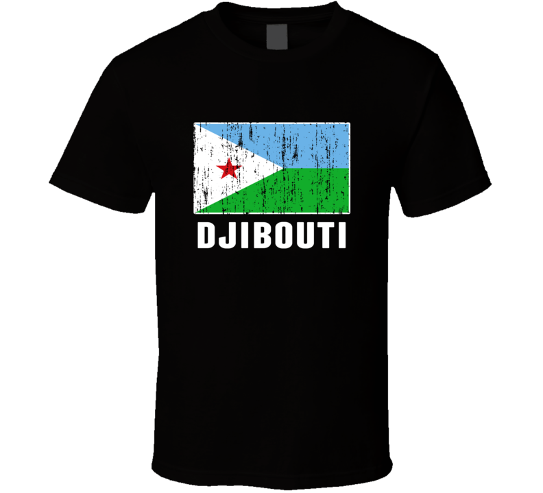 Djibouti Country Flag Patriotic Distressed T Shirt