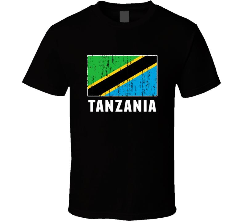 Tanzania Country Flag Patriotic Distressed T Shirt