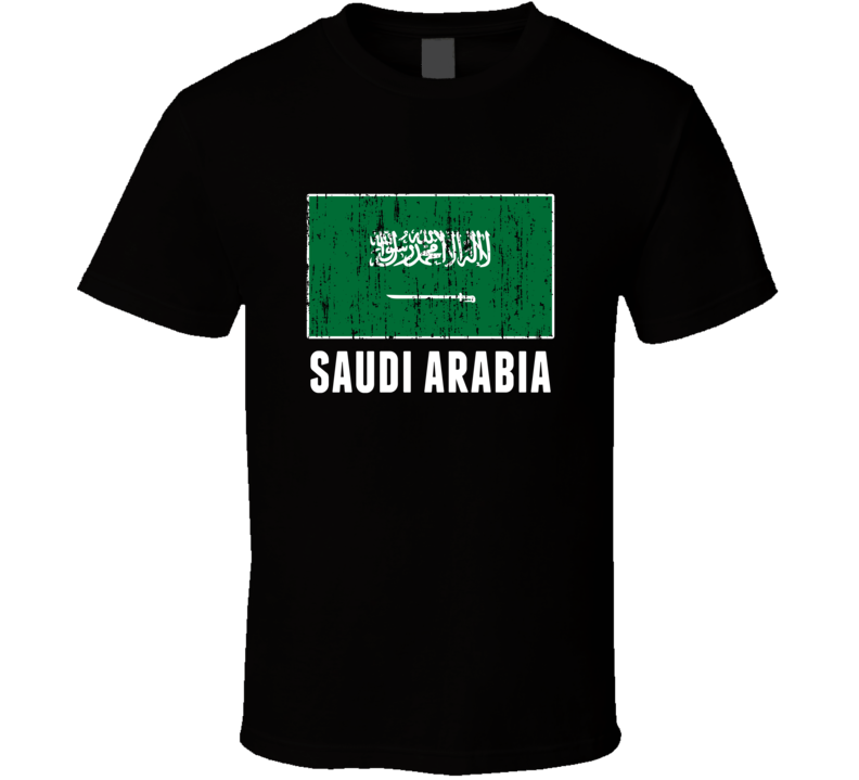 Saudi Arabia Country Flag Patriotic Distressed T Shirt