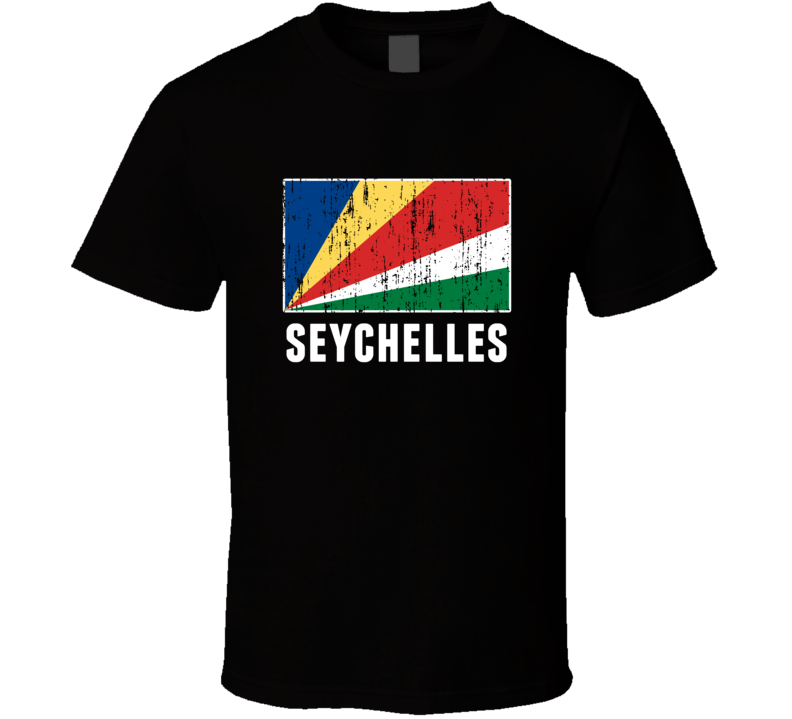 Seychelles Country Flag Patriotic Distressed T Shirt
