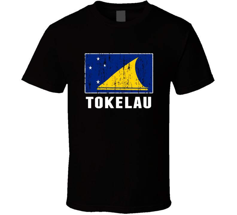 Tokelau Country Flag Patriotic Distressed T Shirt