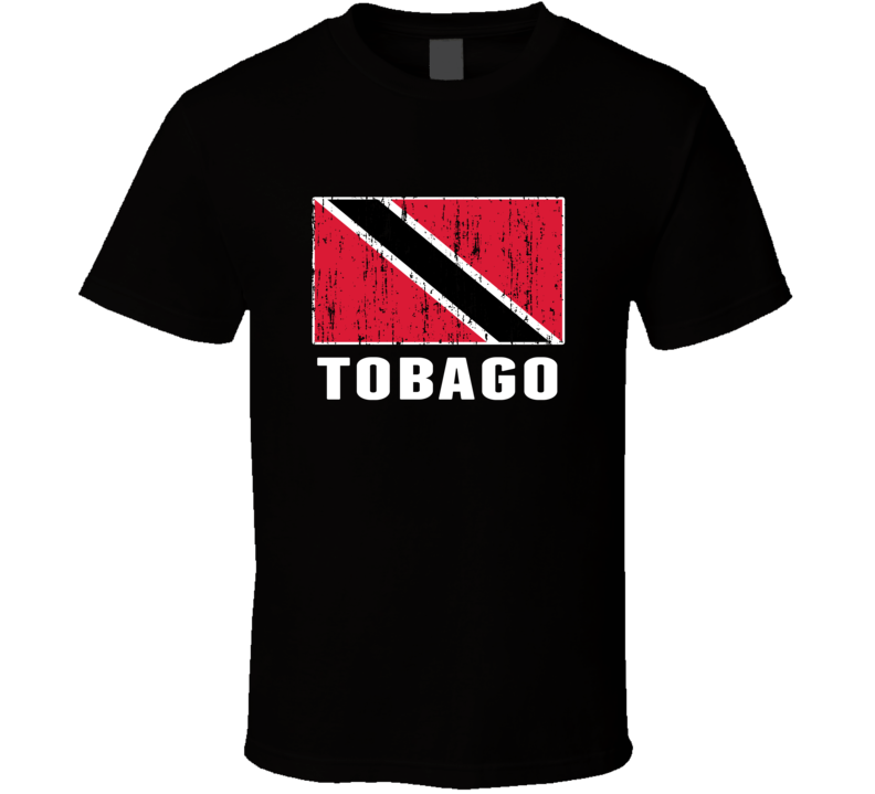 Tobago Country Flag Patriotic Distressed T Shirt