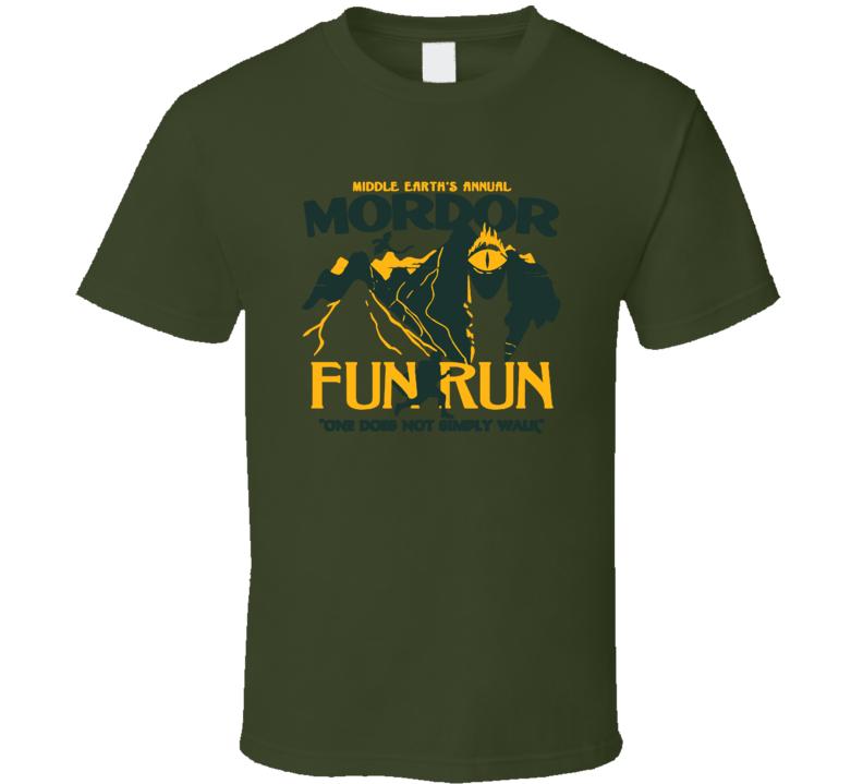 Mordor Fun Run Funny Lord Of The Rings T Shirt